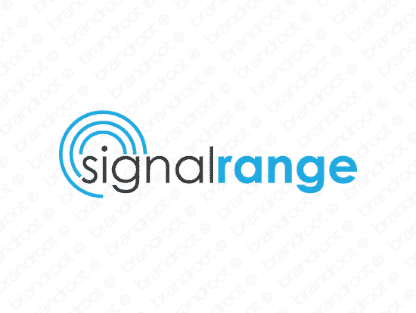 Signalrange logo design included with business name and domain name, Signalrange.com.