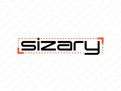 Sizary logo design included with business name and domain name, Sizary.com.