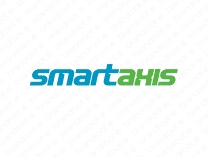 Smartaxis logo design included with business name and domain name, Smartaxis.com.
