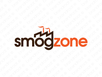 Smogzone logo design included with business name and domain name, Smogzone.com.