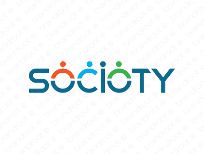 Socioty logo design included with business name and domain name, Socioty.com.