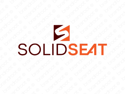 Solidseat logo design included with business name and domain name, Solidseat.com.