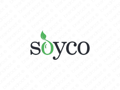 Soyco logo design included with business name and domain name, Soyco.com.
