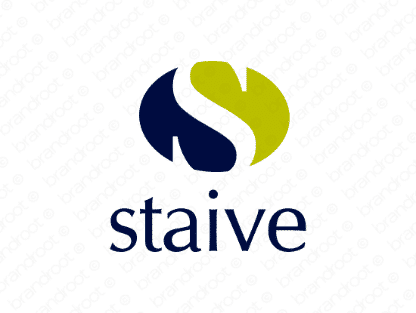 Staive logo design included with business name and domain name, Staive.com.
