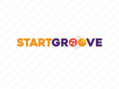 Startgroove logo design included with business name and domain name, Startgroove.com.