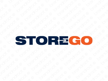 Storego logo design included with business name and domain name, Storego.com.