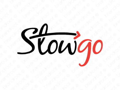 Stowgo logo design included with business name and domain name, Stowgo.com.