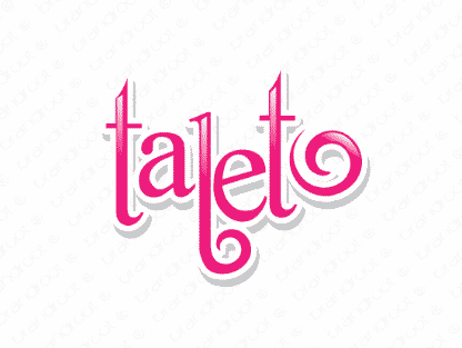 Taleto logo design included with business name and domain name, Taleto.com.