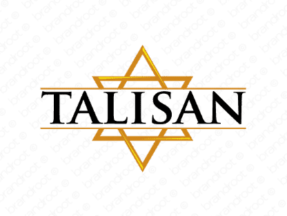 Talisan logo design included with business name and domain name, Talisan.com.
