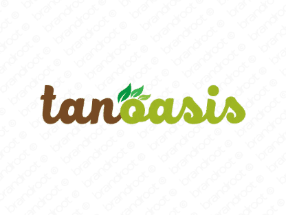 Tanoasis logo design included with business name and domain name, Tanoasis.com.