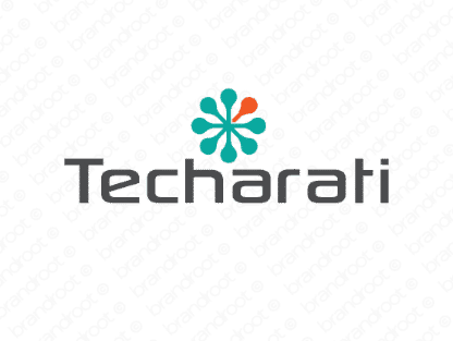 Techarati logo design included with business name and domain name, Techarati.com.