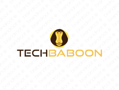 Techbaboon logo design included with business name and domain name, Techbaboon.com.