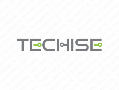 Techise logo design included with business name and domain name, Techise.com.