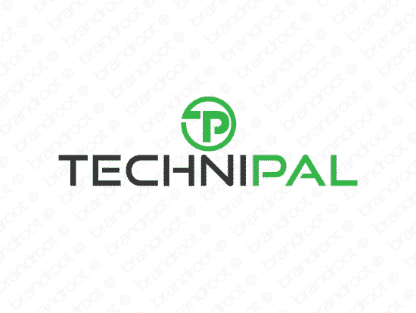 Technipal logo design included with business name and domain name, Technipal.com.