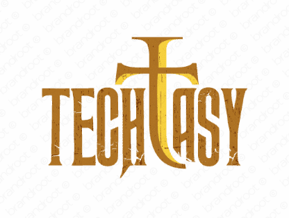 Techtasy logo design included with business name and domain name, Techtasy.com.