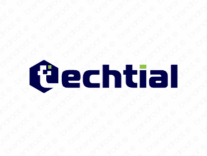 Techtial logo design included with business name and domain name, Techtial.com.