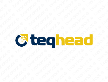 Teqhead logo design included with business name and domain name, Teqhead.com.