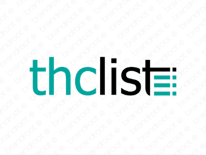 Thclist logo design included with business name and domain name, Thclist.com.