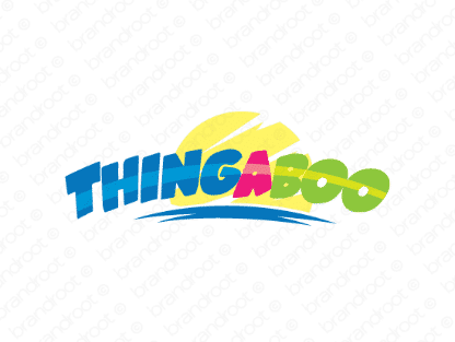 Thingaboo logo design included with business name and domain name, Thingaboo.com.