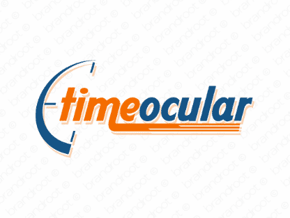 Timeocular logo design included with business name and domain name, Timeocular.com.