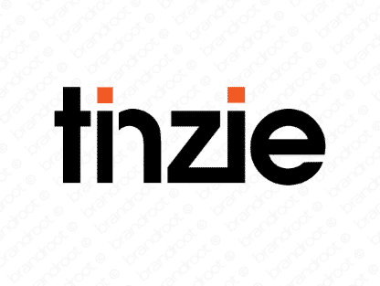 Tinzie logo design included with business name and domain name, Tinzie.com.