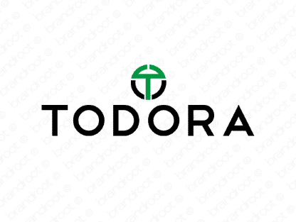 Todora logo design included with business name and domain name, Todora.com.