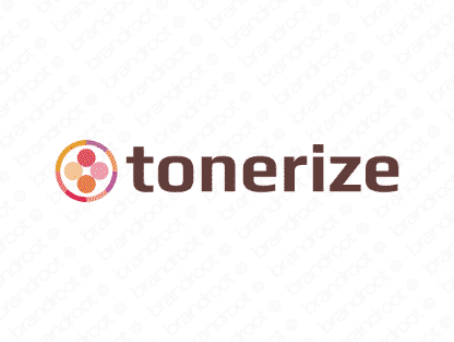Tonerize logo design included with business name and domain name, Tonerize.com.