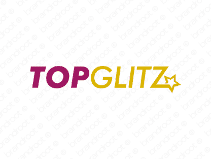 Topglitz logo design included with business name and domain name, Topglitz.com.