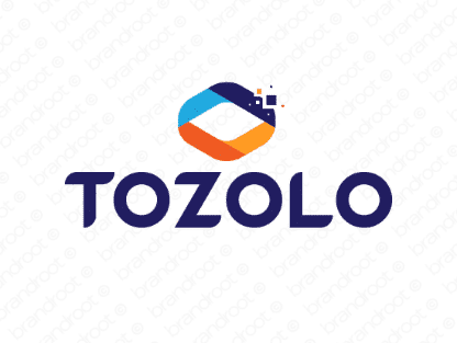 Tozolo logo design included with business name and domain name, Tozolo.com.
