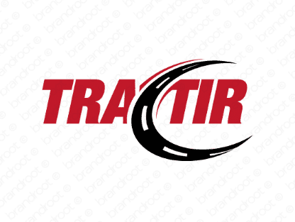 Tractir logo design included with business name and domain name, Tractir.com.