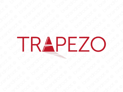 Trapezo logo design included with business name and domain name, Trapezo.com.