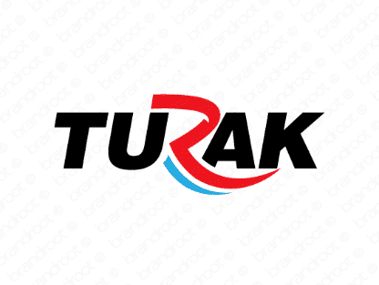 Turak logo design included with business name and domain name, Turak.com.