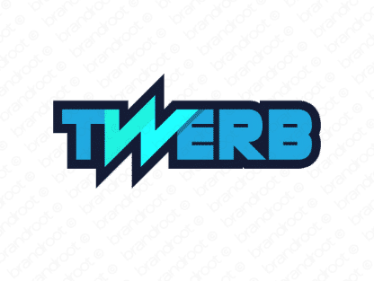 Twerb logo design included with business name and domain name, Twerb.com.