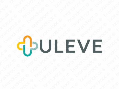 Uleve logo design included with business name and domain name, Uleve.com.