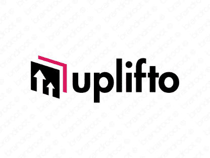 Uplifto logo design included with business name and domain name, Uplifto.com.