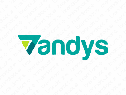 Vandys logo design included with business name and domain name, Vandys.com.