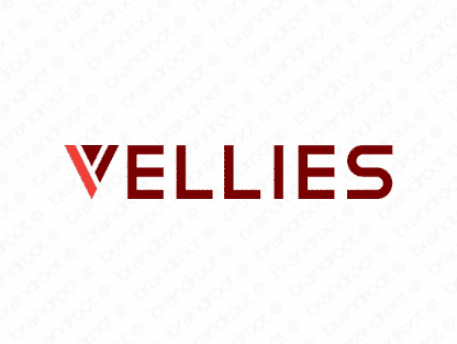 Vellies logo design included with business name and domain name, Vellies.com.