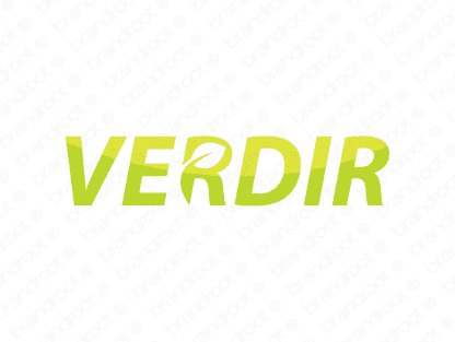 Verdir logo design included with business name and domain name, Verdir.com.