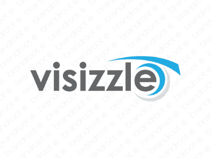 Visizzle logo design included with business name and domain name, Visizzle.com.