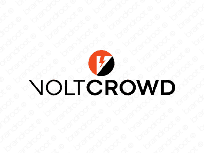 Voltcrowd logo design included with business name and domain name, Voltcrowd.com.