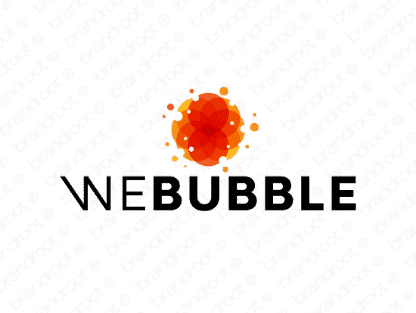 Webubble logo design included with business name and domain name, Webubble.com.