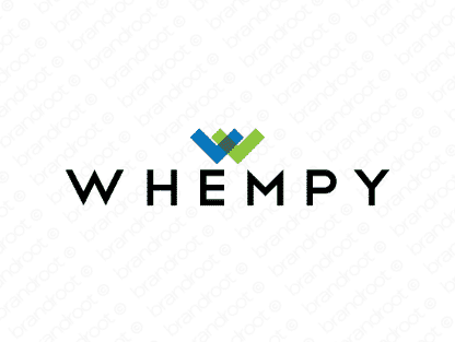 Whempy logo design included with business name and domain name, Whempy.com.