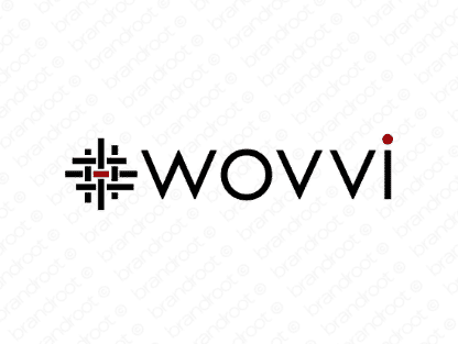 Wovvi logo design included with business name and domain name, Wovvi.com.