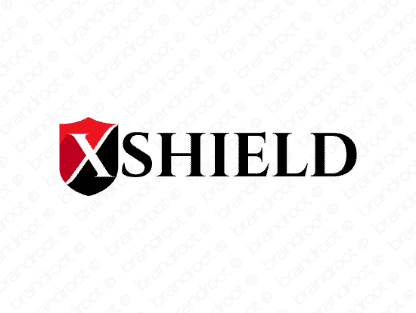 Xshield logo design included with business name and domain name, Xshield.com.