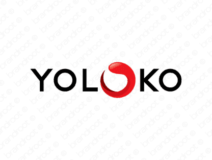 Yoloko logo design included with business name and domain name, Yoloko.com.