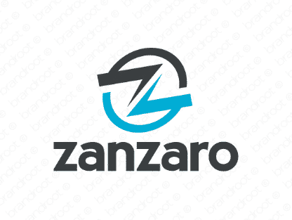Zanzaro logo design included with business name and domain name, Zanzaro.com.