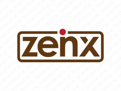 Zeinx logo design included with business name and domain name, Zeinx.com.