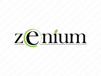 Zenium logo design included with business name and domain name, Zenium.com.