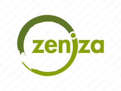 Zeniza logo design included with business name and domain name, Zeniza.com.