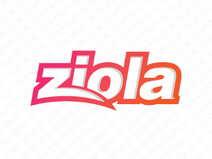 Ziola logo design included with business name and domain name, Ziola.com.
